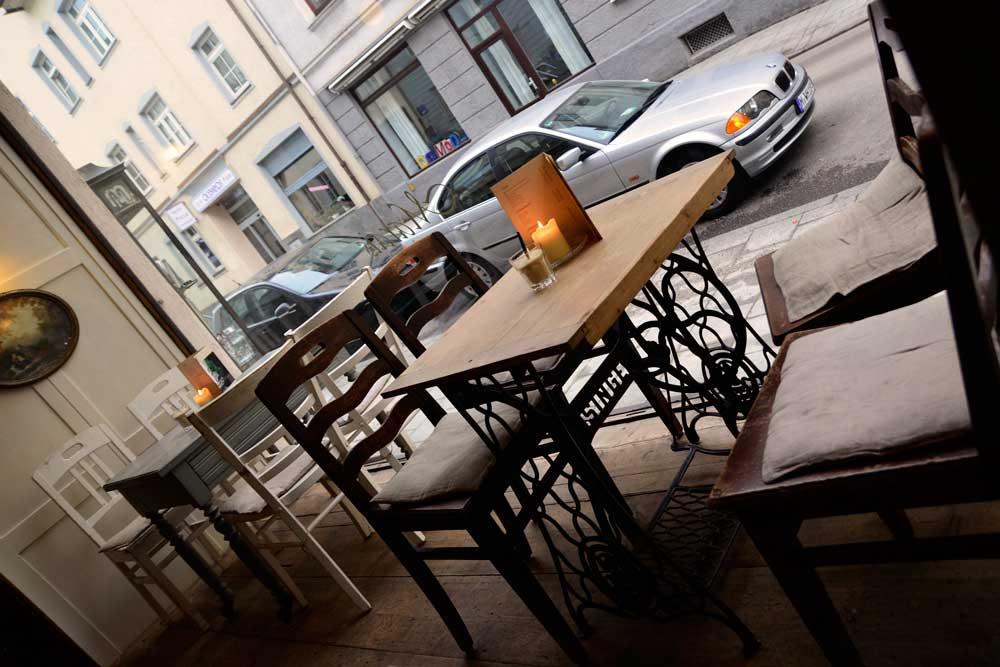 Cafés in München: Ladencafé Marais