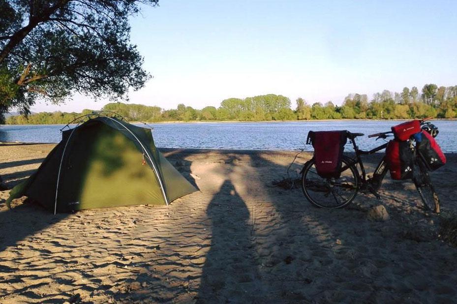 Sandstrand an der Donau.