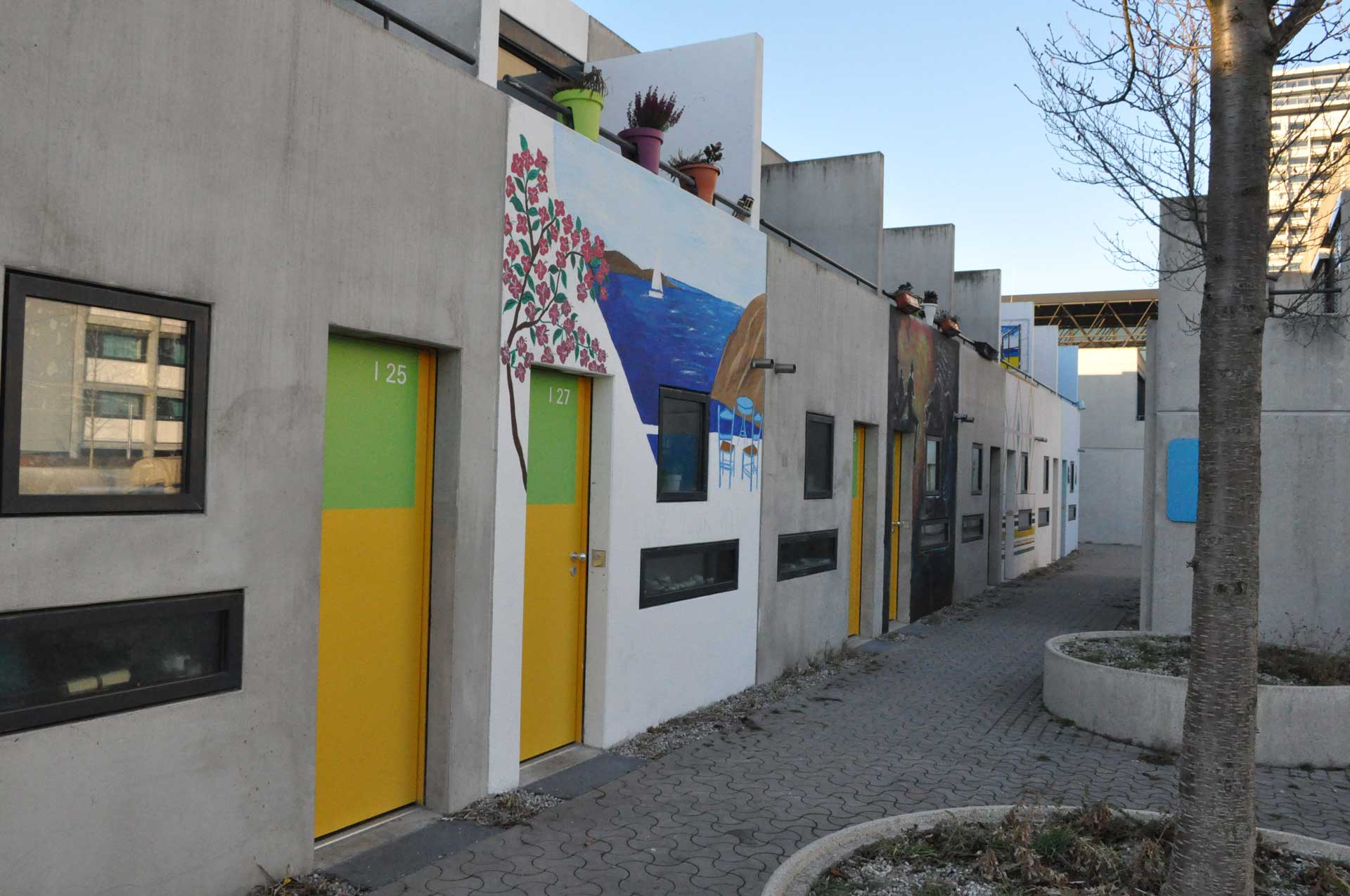 Das Studentenviertel Olympisches Dorf in München
