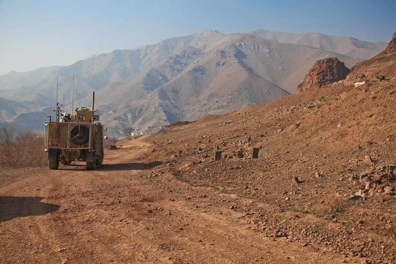 Militärfahrzeug in Afghanistan