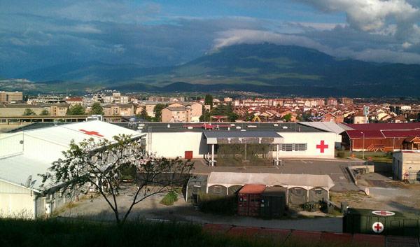 Camp der Bundeswehr in Prizren (Kosovo)