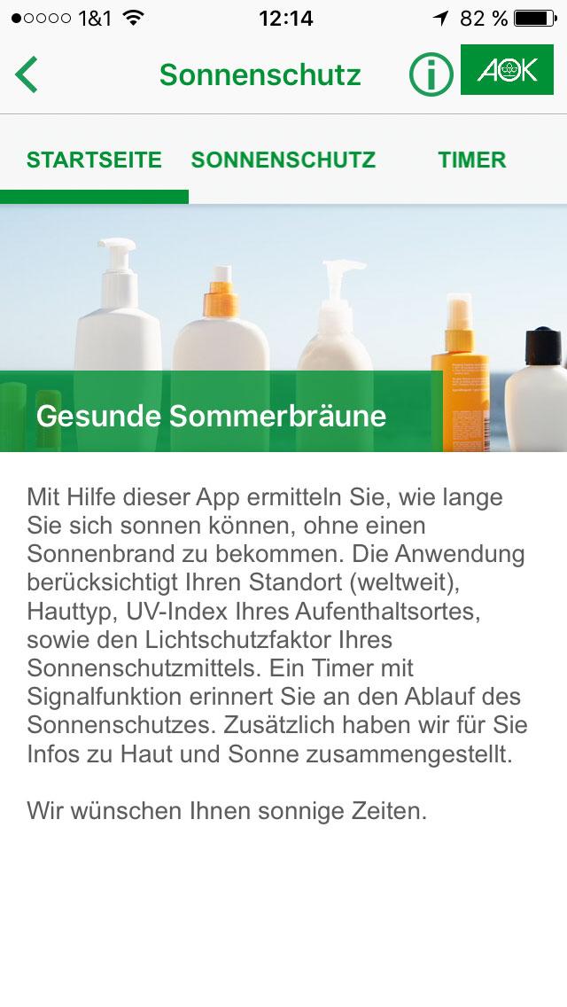 Infoseite Sun&Air