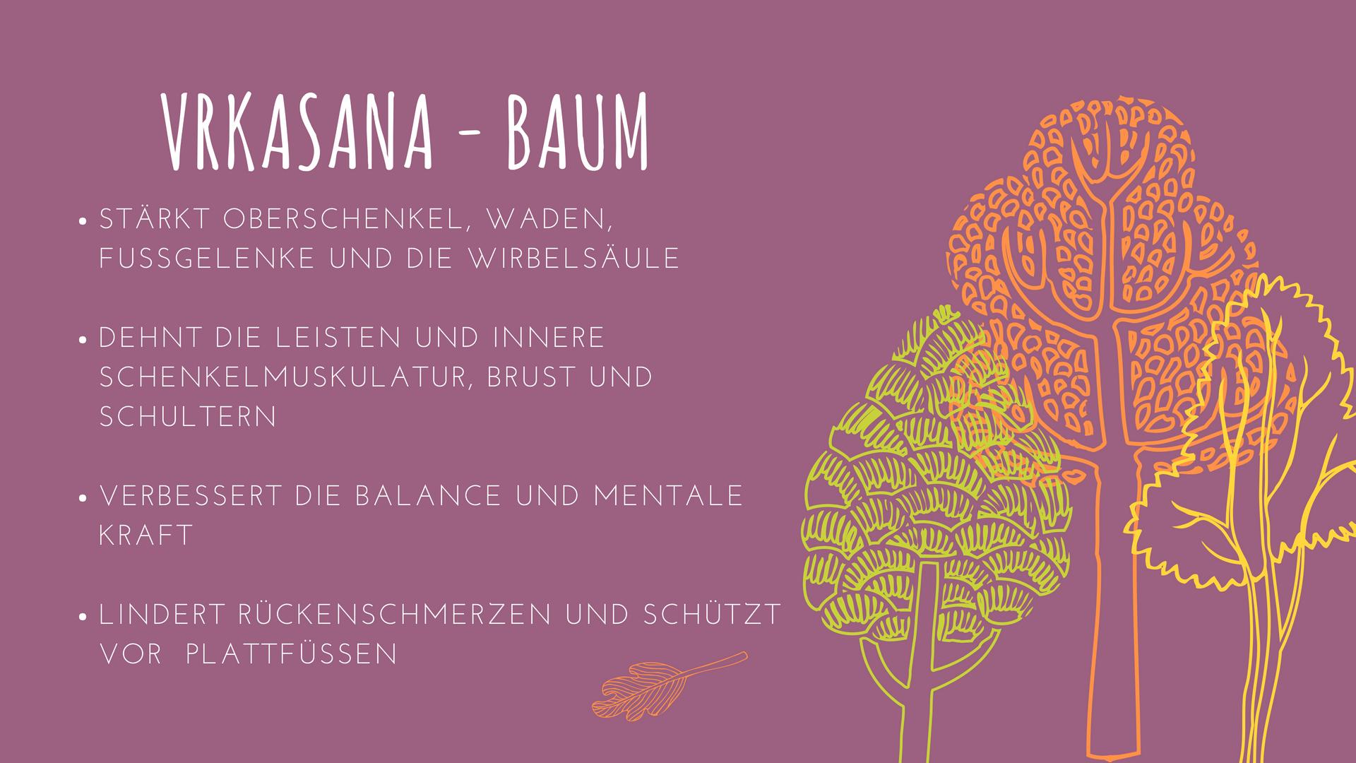 Yoga-Übung Baum